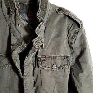 Levi's Men's Military Jacket L Olive